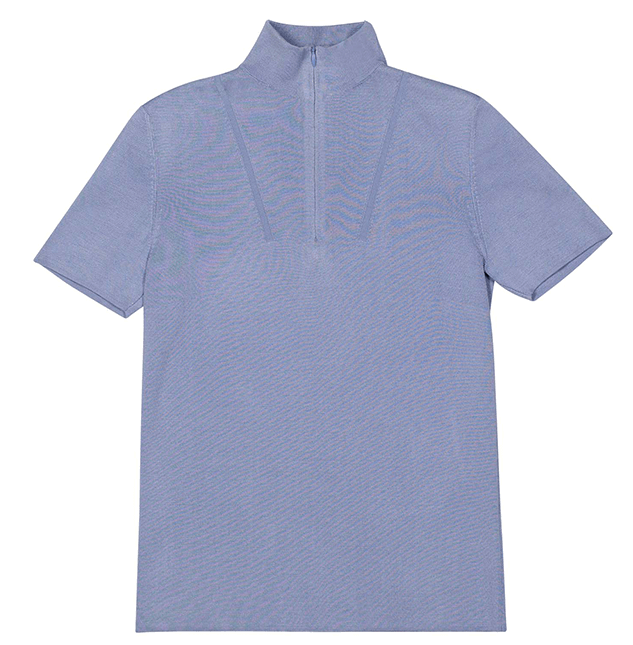Akris Short Sleeve Mock Neck Sweater