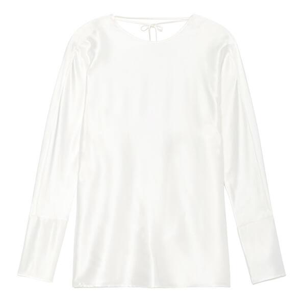 Datura Esther Silk Satin Long Sleeve Top