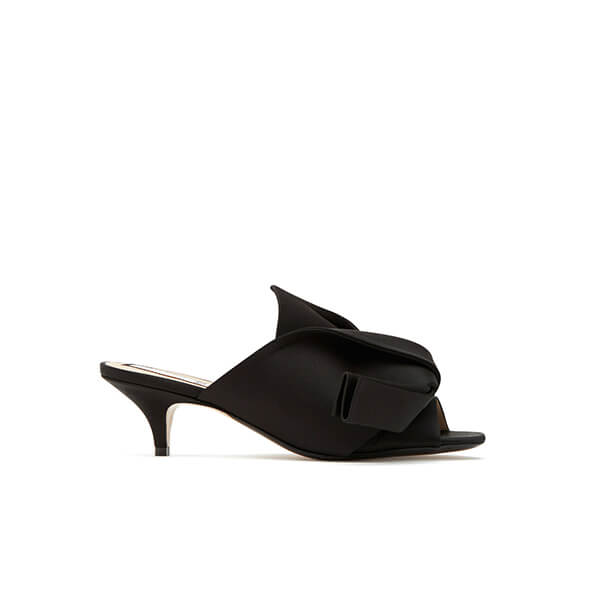 No. 21 Satin Twist Front Mules