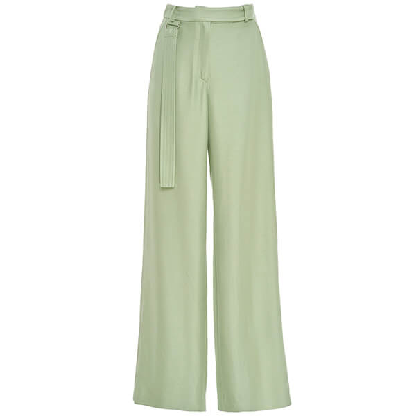 Sally Lapointe Satin Wide Leg Pant