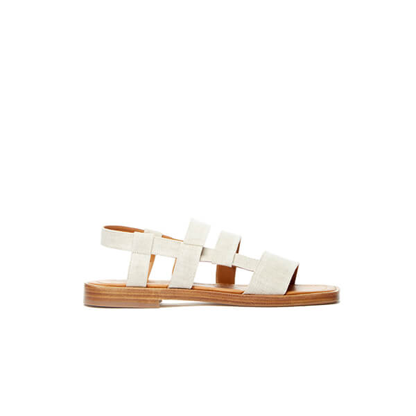 By Far Elio Linen Sandals