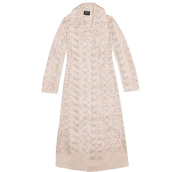 Akris Long Coat in Taffeta