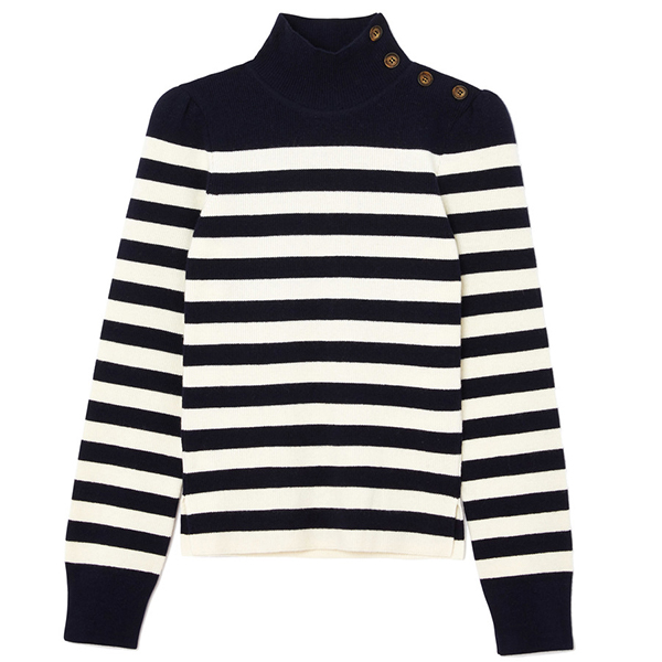 G. LABEL Mindy Striped Turtleneck