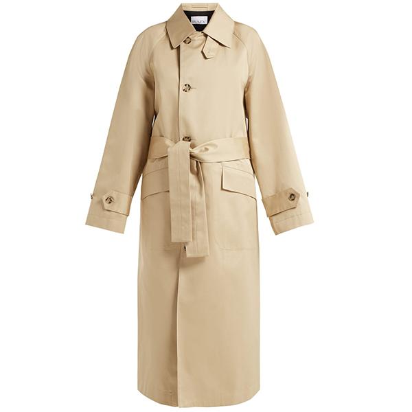 Raey Split Back Cotton Trench Coat