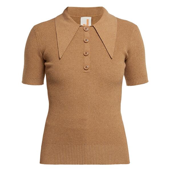 JoosTricot Ribbed Short Sleeved Polo Shirt