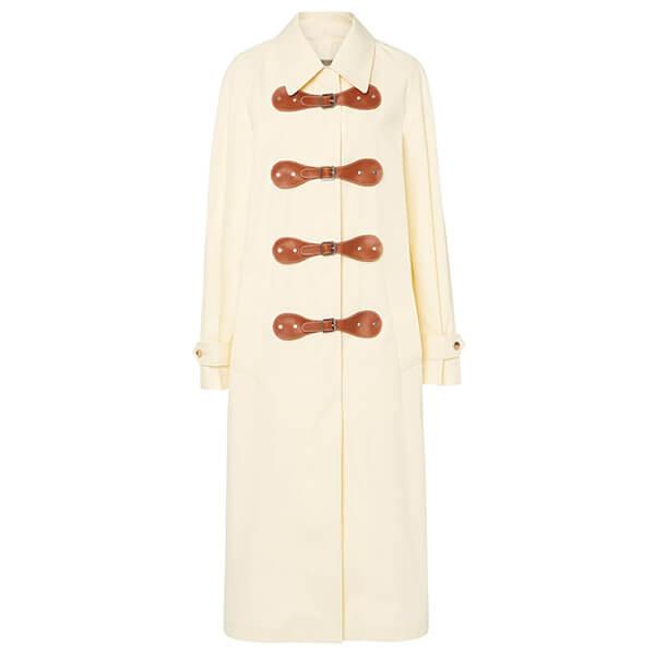 Bottega Veneta Two-Tone Leather Coat