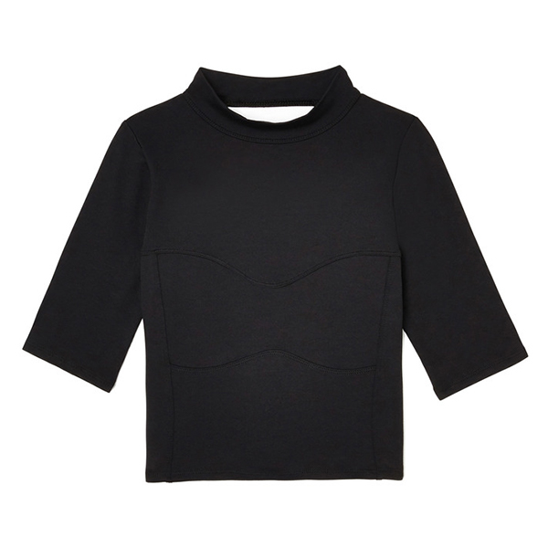 G. SPORT Mock-Neck Crop Top