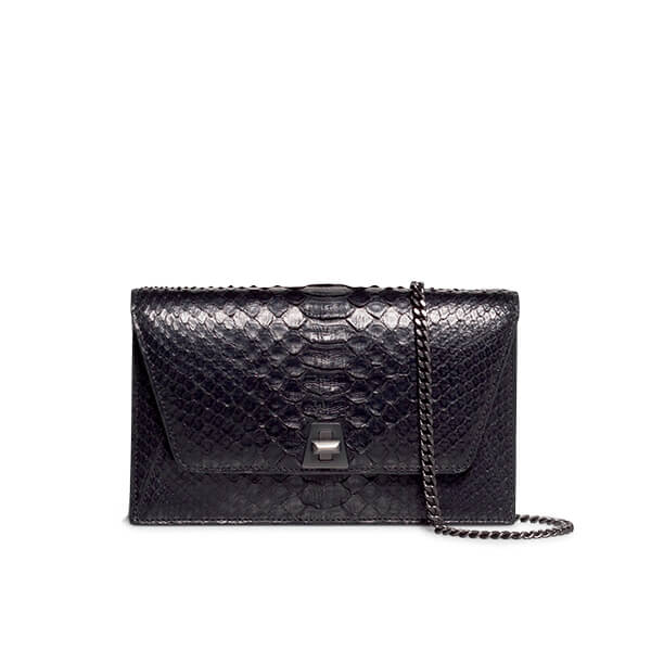 Akris Python Snakeskin Envelope Clutch Bag