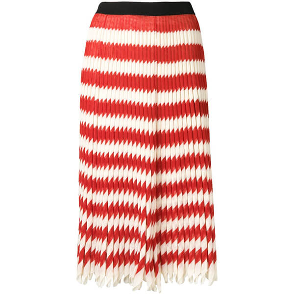 Calvin Klein Striped Pleated Skirt