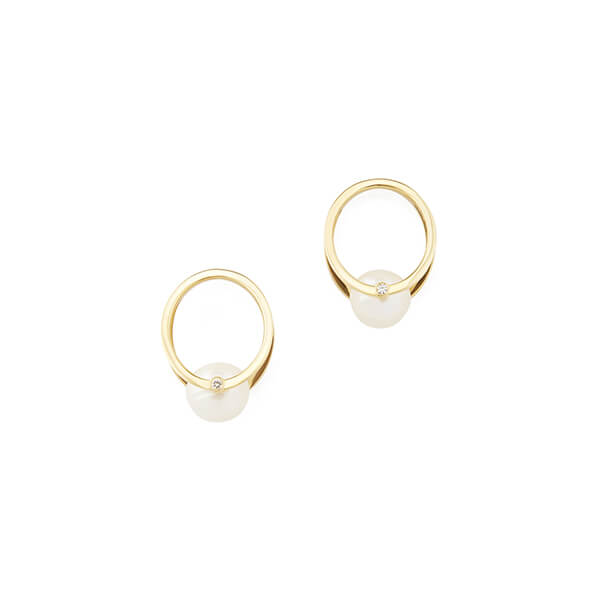 Katkim Pearl Yellow Gold Oasis Earrings