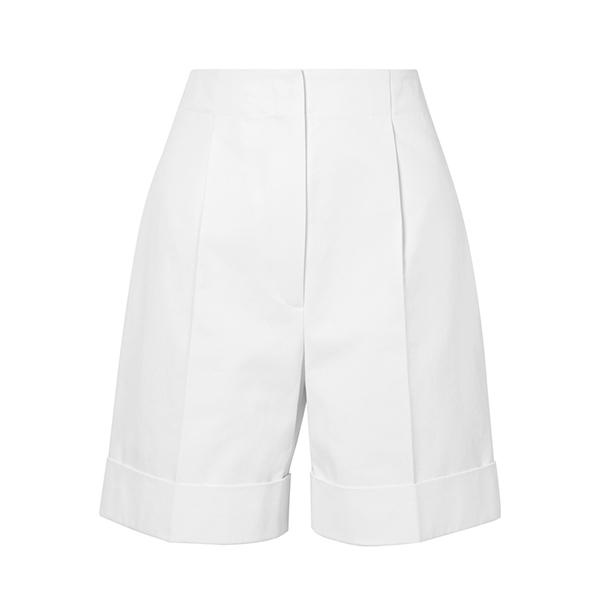 The Row Abby Cotton Twill Shorts