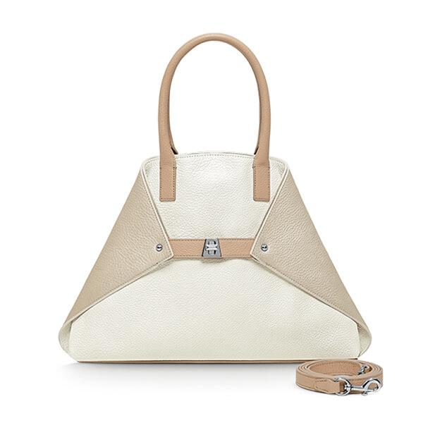 Akris Small Messenger Bag in Cervocalf Leather