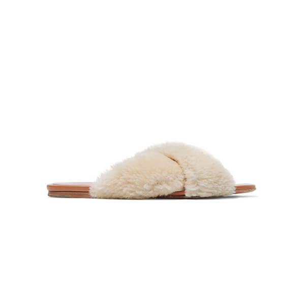 Rosetta Getty Shearling Slides