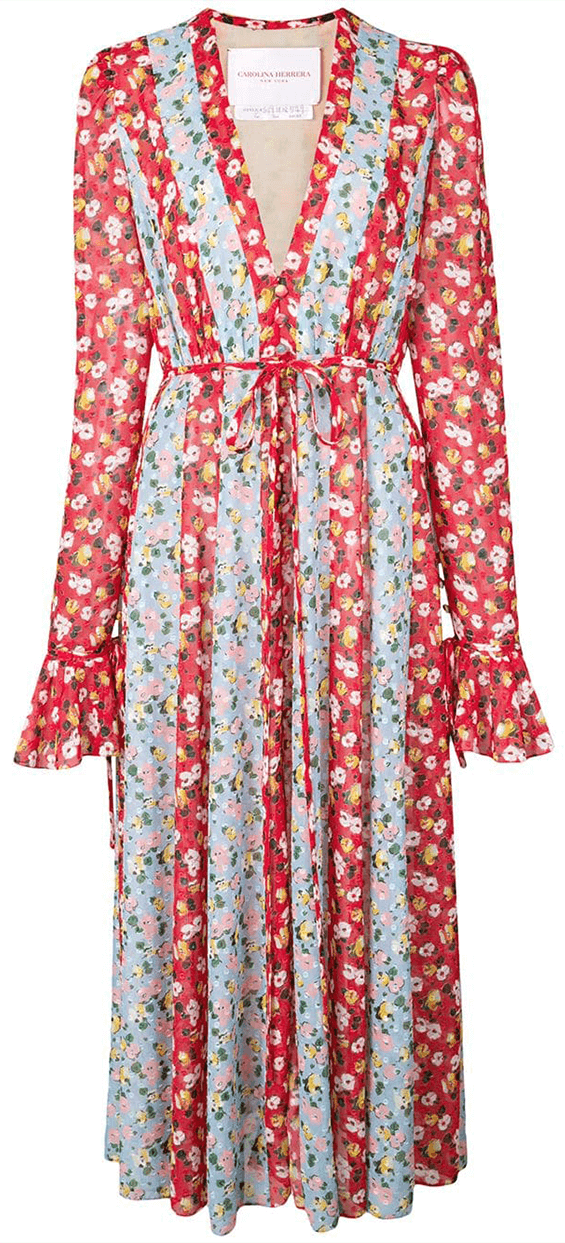 Carolina Herrera Multi Floral Dress