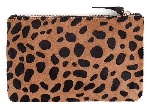 Clare V Wallet Clutch Leopard Hair