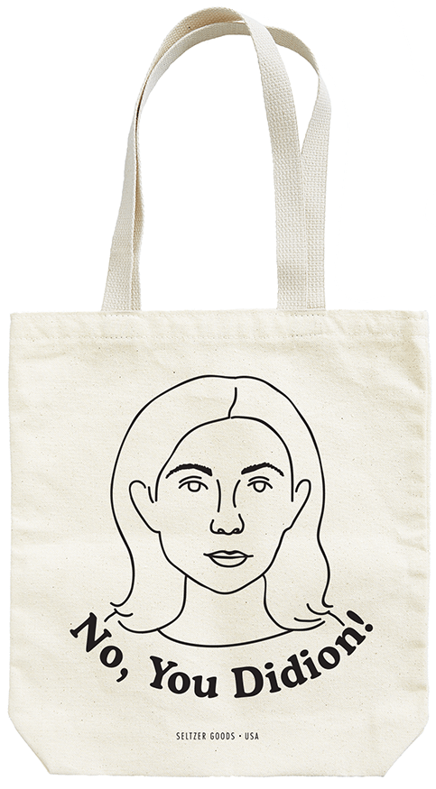 SELTZER didion tote