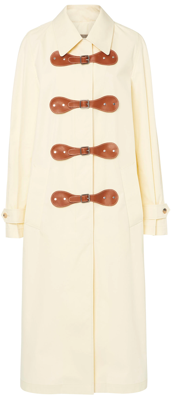Bottega Veneta Two-Tone Leather Coat