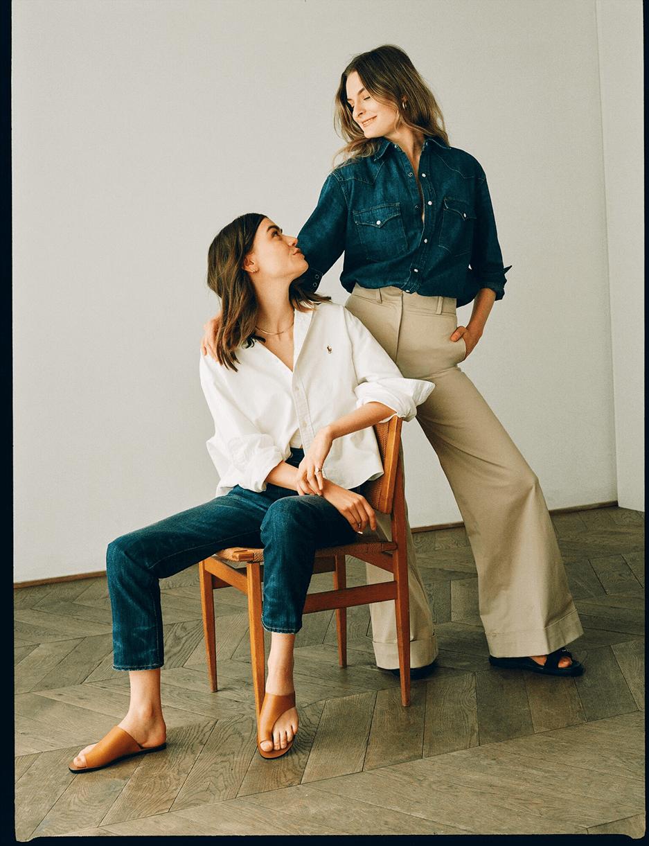 Christie Tyler and Joanna Halpin modeling