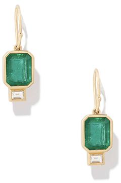 Azlee Emergald Baguette Earrings