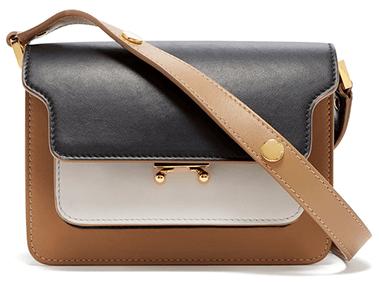 Marni Color Block Leather Borsa Tracolla Bag