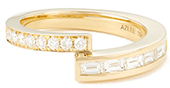 Azlee Pave Baguette Diamond Band