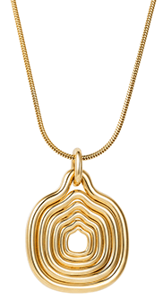 Fernando Jorge Thin Snake Chain with Cushioned Lines Pendant