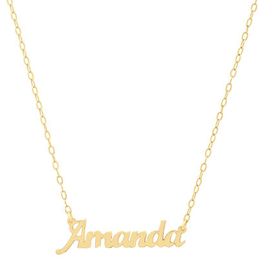 Iconery Dainty Nameplate Necklace