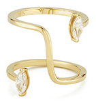 Katkim Marquise Farris Yellow Gold Diamond Ring
