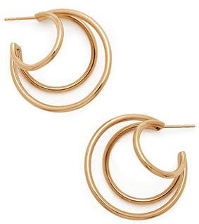 Michelle Fantaci Echo iii Yellow Gold Hoops
