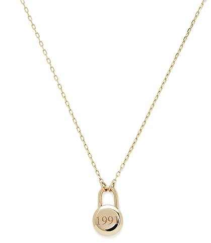 Sophie Ratner Love Lock Yellow Gold Necklace