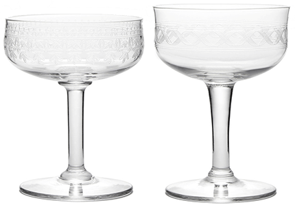 Vintage Coupe Glasses