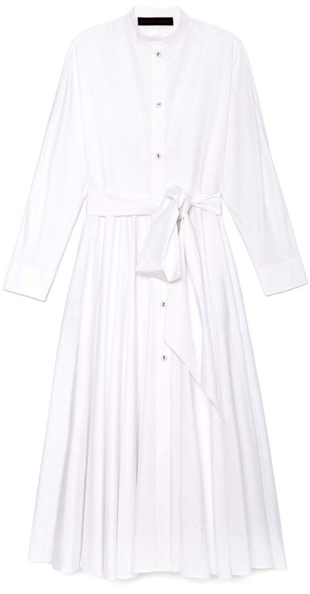 Martin Grant Poplin Shirtdress