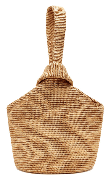 Sensi Studio Pull Through Straw Tote Bag