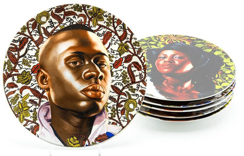 Kehinde Wiley Plate Set