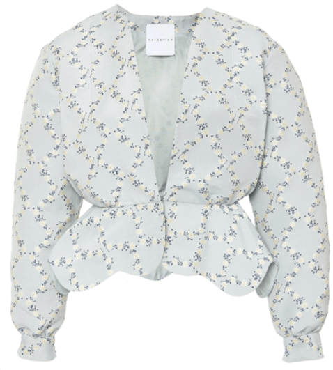 Markarian Exclusive Wickham Floral Print Peplum Jacket