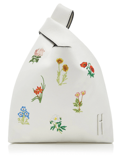 Hayward Mini Floral Embroidered Leather Shopper