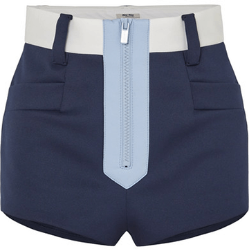 Miu Miu Color-Block Neoprene Shorts
