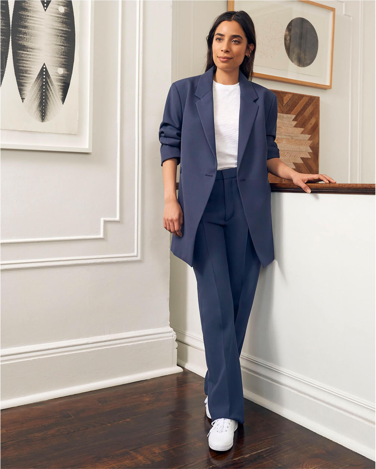 Biance Valle in Toteme Suit