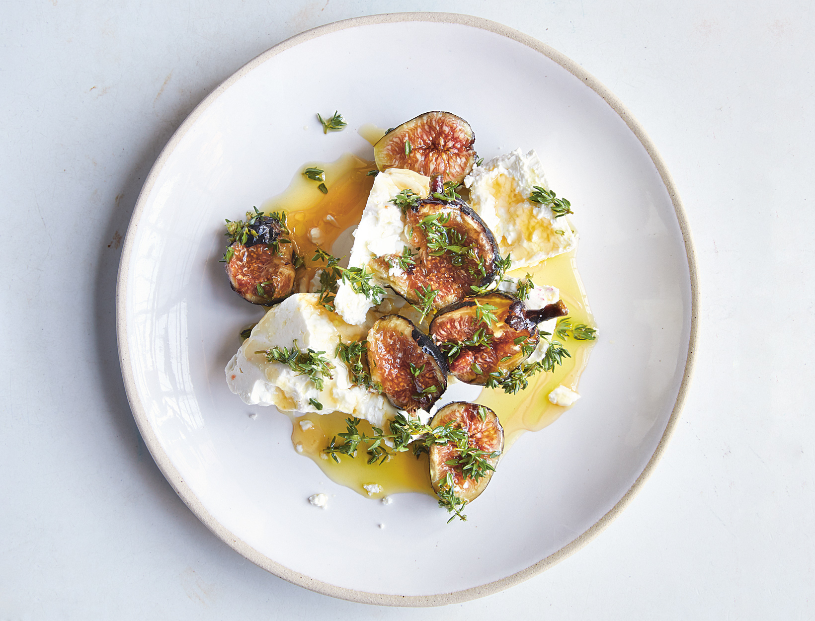Feta, Figs, Thyme, and Honey