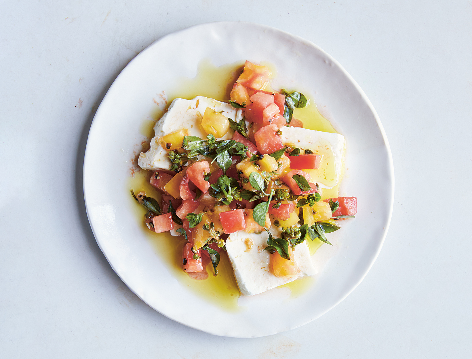 Feta, Heirloom Tomato, and Oregano