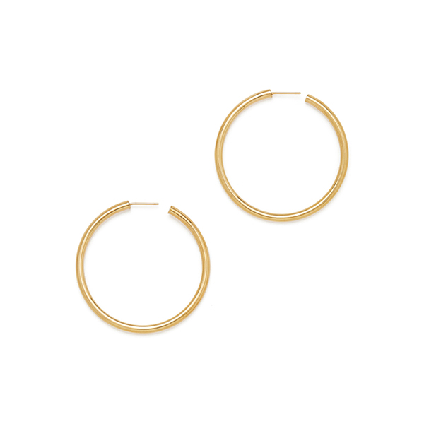 Natasha Yellow-Gold Hoops
