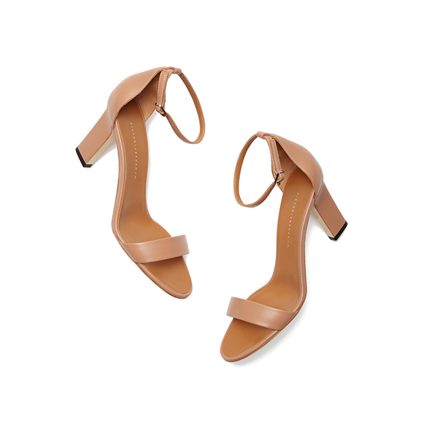 victoria beckham nude low heel sandals