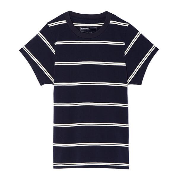 Entireworld striped black tee