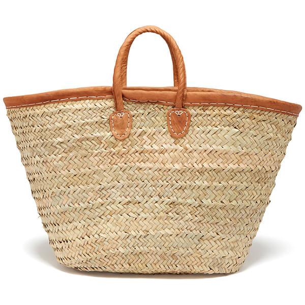 Leather Trimmed Market Basket