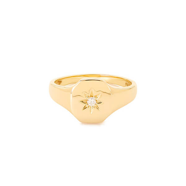 BONDEYE JEWELRY Josie Yellow-Gold Signet Ring