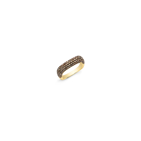 Anne Sisteron Champagne Diamond Square Ring