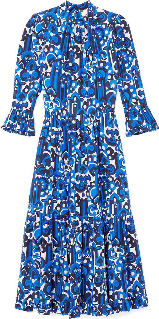 goop x La DoubleJ Midi Visconti Crepe de Chine Dress