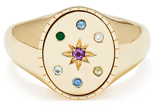 BONDEYE JEWELRY Ingrid Yellow-Gold Signet Ring