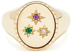 BONDEYE JEWELRY Isabella Yellow-Gold Signet Ring