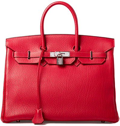 WHAT GOES AROUND COMES AROUND Hermès Red Fjord Birkin 35cm Bag